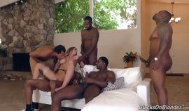 Gangbang - Wife Blonde Estate Agent Gang Fuck Double Penetration Bbcs Dgs