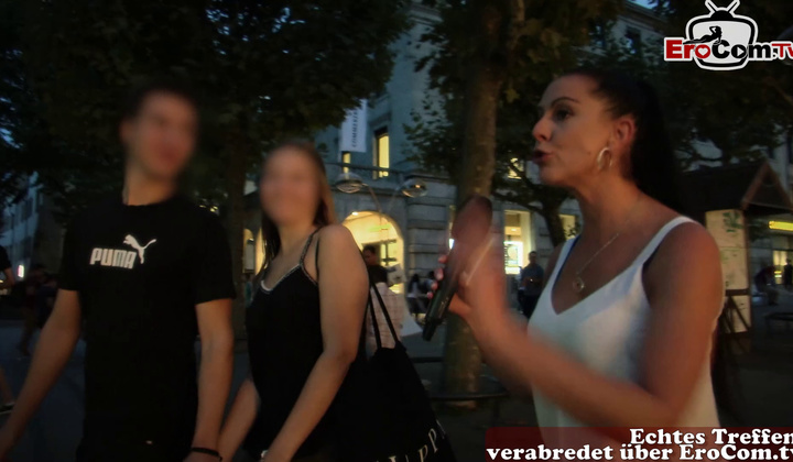Brunette - European Public Casting For Cuckold With Dutch Teen On Stree…