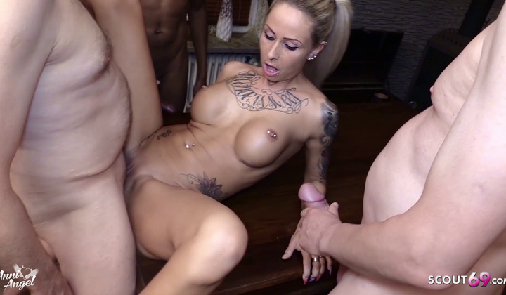 Creampie Gangbang For Diminutive European Teen Anni By Stranger