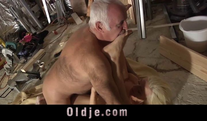 Teen - Old Man Is Fucking His Young Blonde Employee Girl