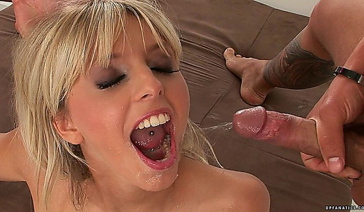 Stella Delcroix - Hot Blonde Fucked In A Gang Bang